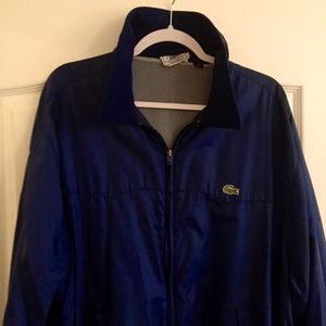 Vintage Lacoste IZOD Blue Alligator Track Jacket